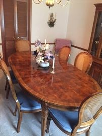 Dining room table with beautiful wood!