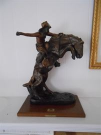 """Bronco Buster - Frederic Remington  about 22"""""""