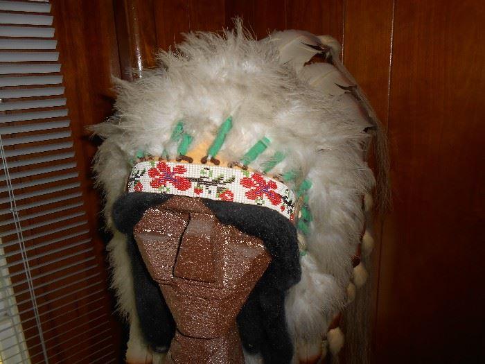 Beaded headdress - full feathers