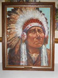 Ponca-Chief/Canvas  (Artist - Chadwick)