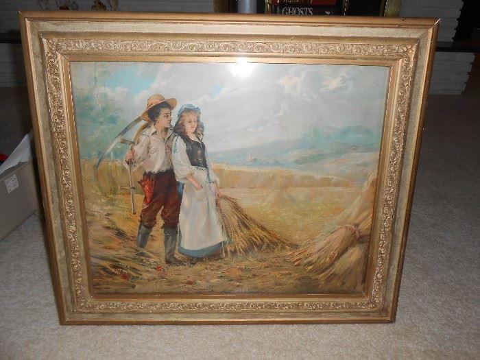 Couple pastoral landscape - Painted by Rogers 1905