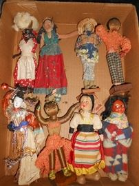 Small dolls representing various countries 1 of 2 boxes