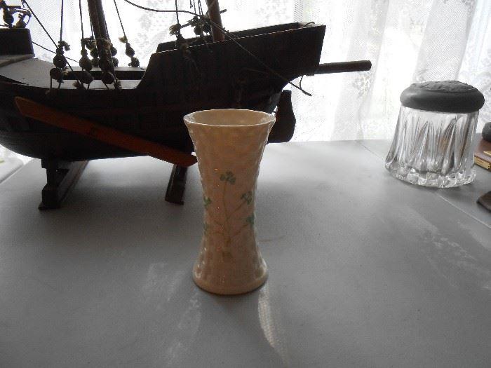 """Belleek 7"""" vase"""