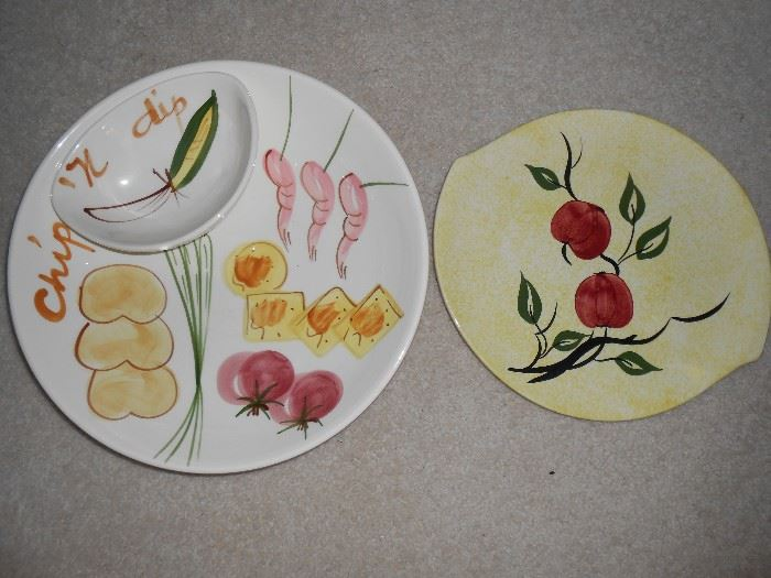 Chip and dip large plate and side platter