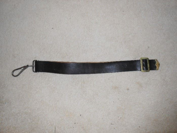 Leather strap B. Gaylord Chicopee, Mass