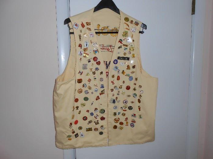 Moolah St Louis Mo Chanters Quartet vest - approximately 100 pins
