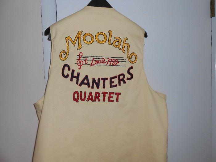 Moolah St Louis Mo Chanters Quartet vest