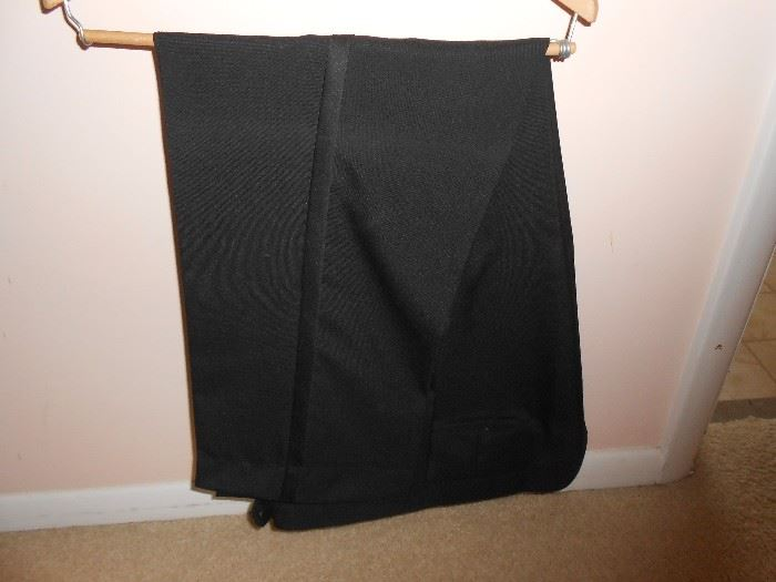 Large male tux pant with velvet accent
