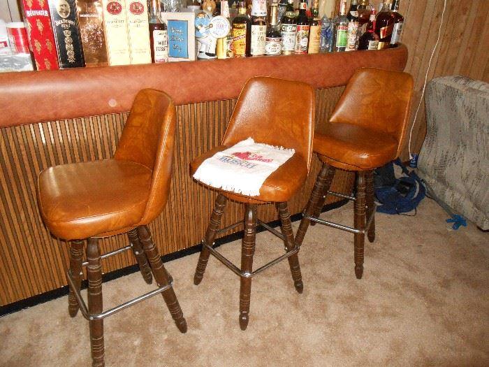 3 of 4 bar stools