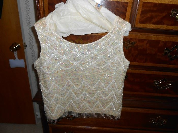 Sequinned sleeveless top - size M