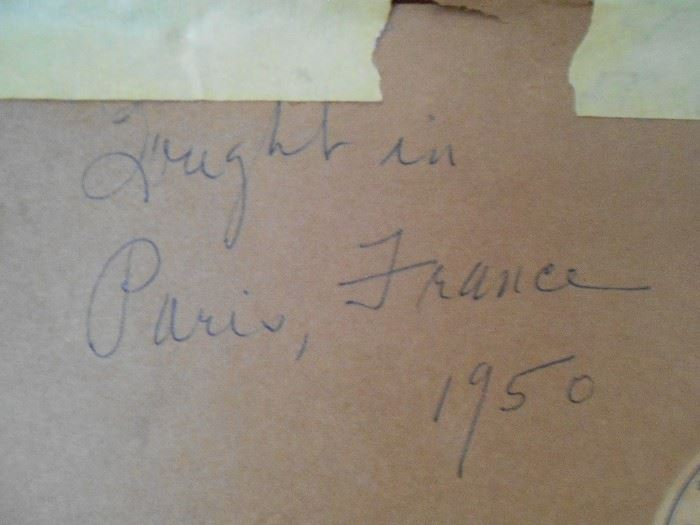 Bought in Paris, France 1950 - nude by Robert