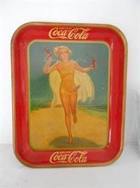 1937 true vintage Coca-Cola tray