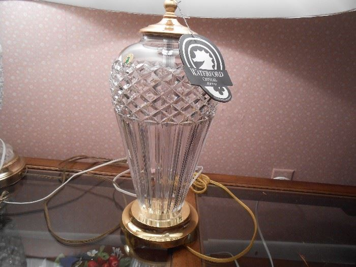 Waterford lamp in mint condition