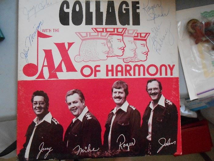 Signed Jax of Harmony album -  Jerry, Mike, Roger and John