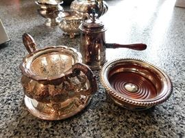 silver plate kitchen items