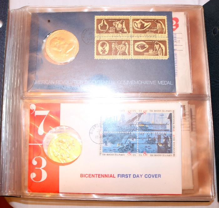 Dozens of Sterling Silver Medallion First Day Covers