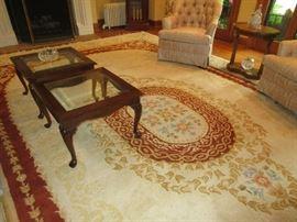 Huge wool area rug