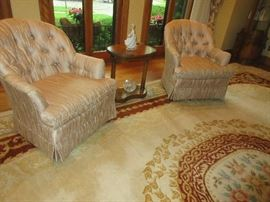 4 tub chairs
