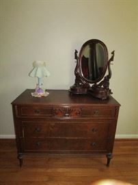 Dresser and barber mirror