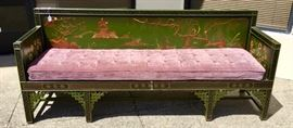 Asian Chinoiserie Style Bench C. 1920's