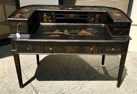 Signed Oriental Style Carlton Desk