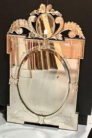 Antique Venetian Wall Mirror C. 1900