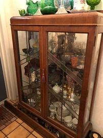Leaded/stained glass display cabinet.