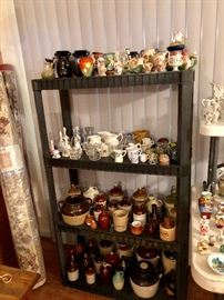 There are dozens of collectible china and pottery vases, pitchers, figurines.  Little brown jugs. This is just a sample as we unpack boxes.