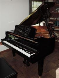 """YAMAHA GH1 C. 1996 BABY GRAND - Black """"mirror"""" finish - excellent sound board - was purchased for """"display"""" and was very seldom used..."""
