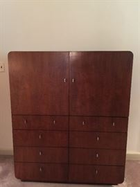 22. Milo Baughman for Founders Walnut Man's Chest w/ Stainless Pulls (45'' x 19'' x 55'')