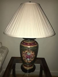 Pair of large ginger jar style decorative lamps