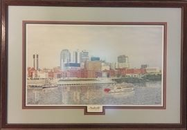 Nashville on the Cumberland print by Steve Ford, signed and numbered.