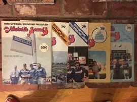 1970s Nashville Sounds programs, some team signed.