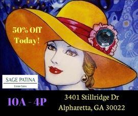 SAGE PATINA Estate Sales - 50% Off Today!