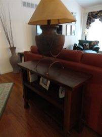 SOFA TABLE WITH UNIQUE LAMP