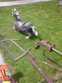 Hobby horse, old tools, pump