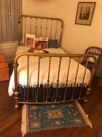 Antique brass bed double bed