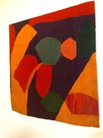 MCM Color Block Abstract Wall Textile