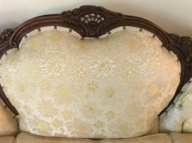 Gorgeous  upholsted Victorian style sofa.