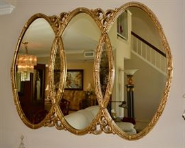Beautiful gold gilt mirror