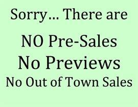 no pre sales