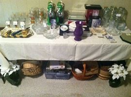 Beautiful Selection Of Smalls, Crystal, Blues, Glasses, Collectibles