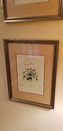 framed vintage botanical prints