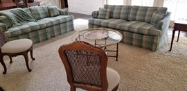 Ethan Allen country chic sofas