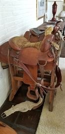 King Ranch Saddle 1977 , saddle on the right is a Simco Western saddle also vintage