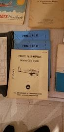 Lot's of airplane and flight booklets and manuals