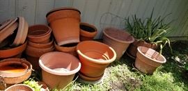 assortment of various pots