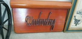 woodworking sign, beautiful hardwoods you can repurpose