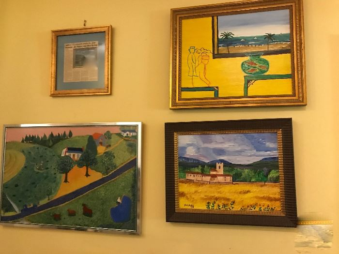 lots of paintings