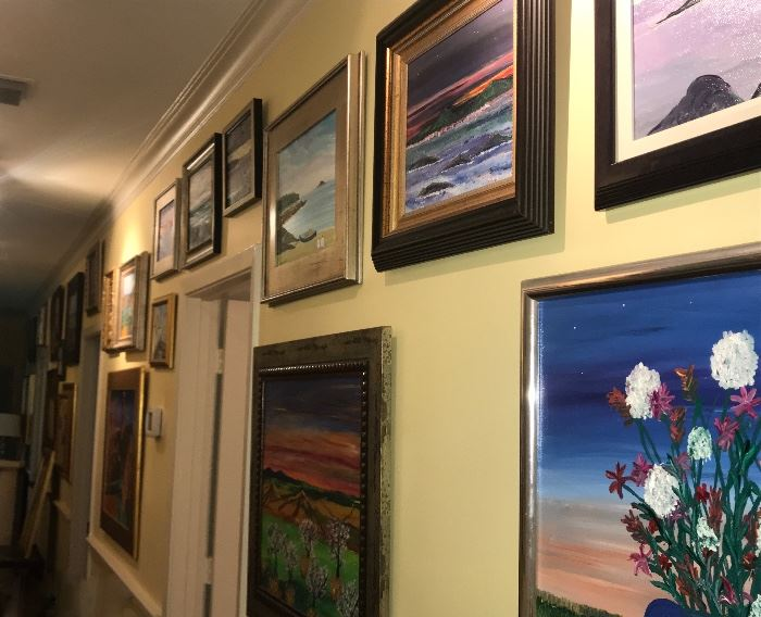 large collection of Jim Becker paintings